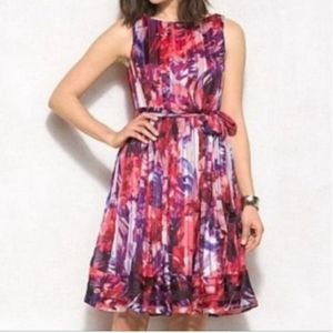 Luxe By Carmen Marc Valvo Watercolor Floral Dress